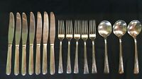 15 CAMELIA International Silverplate Flatware Silverware Forks Spoons Knives Lot