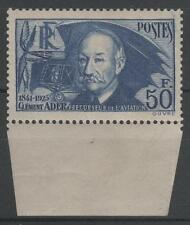 "FRANCE STAMP TIMBRE 398 "" CLEMENT ADER 50F BORD DE FEUILLE"" NEUF xx SUPERBE N680"