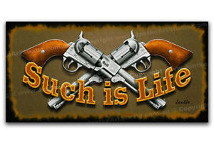 Such Is Life NED KELLY GUNS Outlaw Gift Fine Art Canvas Print - Australia Made