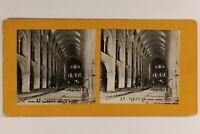 Francia Reims Basilique Saint-Rémi Interno c1900 Foto Stereo Vintage