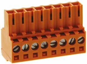 Weidmueller Omnimate 8 position female connector terminal socket block 3.50 mm