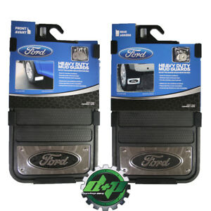 FORD Trucks heavy duty 12x23 mud guard flap mudflaps stainless SET of 4 new