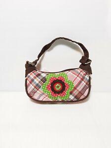 New Claire's Club Girls Handabag Tiny Little Shoulder bag Tartan with Flower