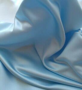 HEAVY ICE BLUE DUCHESS SATIN, BRIDAL,WEDDING DRESS,200gsm fabric sold/PER METRE/
