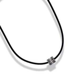 CEM Women's Necklace Titan Collier 17 11/16in Jewelry Rubber 4-105747-001