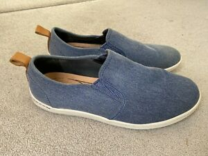 Clarks Casual Slip-on Shoes Blue - Size 8.5 UK