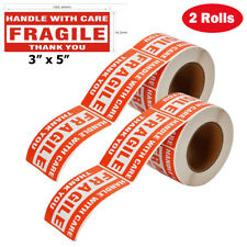 1000 Fragile Stickers 3x5 Handle With Care Thank You 500 Roll Warning Labels