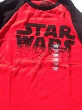 Star Wars Long Sleeve Shirt Large Youth (14/16) NWT Red Black 1679803