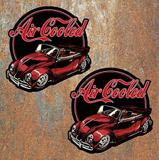 Air Cooled Beetle Retro Stickers vdub Vintage AirCooled Dub Bug Decal blk