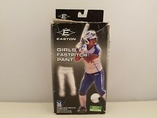 Easton Girls Fast Pitch Softball Pant   Youth Small   White   1005975