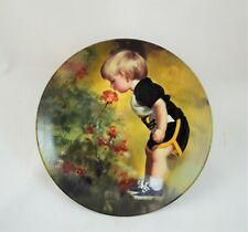 Zolan Childhood Collection Boy In Grandma'S Garden Plate Mint