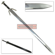 Stainless Steel Witcher 3 Silver Geralt of Rivia Sword Replica Full Tang Swords