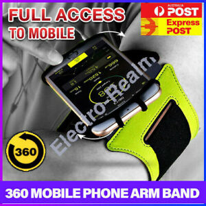 Rotating Sports Running Jogging Gym Armband Arm Band Phone Holder For iPhone 12