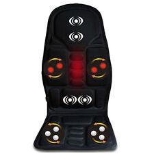 Car Seat Heat Massage Back Chair Cushion Pad Lumbar Neck Shoulder Massager Good