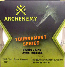 100 Ft. 200 lb. Archenemy BRAIDED BOWFISHING LINE Bow Fishing Braided Muzzy Reel