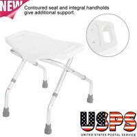 Lightweight Durable Folding Bath Shower Seat Bathroom Chair Disability Aid Stool