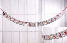 Mickey Mouse Banner Bunting Happy Birthday Party Hanging Flag Decoration