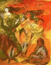 WEIBLICHE AKTE im WILDEN TANZ - Walter SPITZER - OriginalFarblithographie 1959
