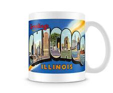 Vintage Luggage Label for Chicago Printed Mug image on both sides