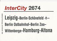 Zuglaufschild InterCity 2674