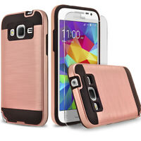 For Samsung Galaxy Core Prime Phone Case, Shockproof Cover+Screen Protector