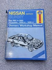 Haynes 895 Nissan Datsun Sunny May 1982 - 1986 1269cc 1488cc Workshop Manual