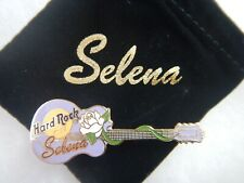 HARD ROCK CAFE SELENA PURPLE GUITAR WITH WHITE ROSE & POUCH