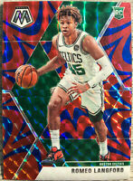 2019-20 Panini Prizm Romeo Langford Rookie Card RC Mosaic Orange Reactive Celtic