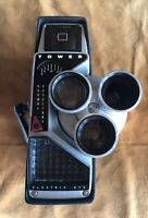 Vintage Tower Electric Eye 8mm Movie Camera With Turret Lens! Model 91891 Sears!