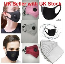 Reusable Washable Mouth Nose Face Masks Coverings with or without Air Vents