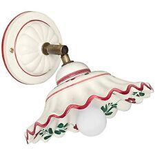 Wandleuchte Wandlampe 1x E14 max.60W Keramik weiß Blumenmuster CERAMICHE BORSO