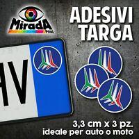 ADESIVI STICKERS BOLLINO TARGA FRECCE TRICOLORI 1 ITALIA  FLAG AUTO MOTO PLATE