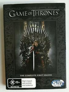 Game of Thrones Season 1 DVD R4 5 disc set MA15+