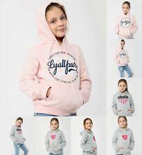 Kids Girls Printed Hoodies Hoody Hooded Top Jumper 3 New Designs