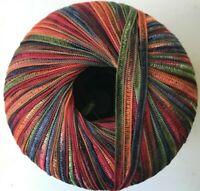 YARNS lot SPIKE fuzzy RED Orange Knit Eye Lash Eyelash Ribbon 102 1-5 ball N.Y