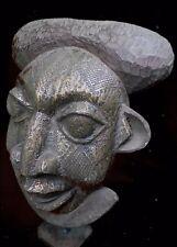 African Tribal Bamileke Metal Mask  :  Cameroon
