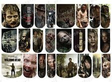 24 WATER SLIDE NAIL ART DECALS * THE WALKING DEAD * FULL NAIL COVERS Zombies