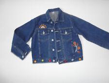 Mädchen Jeansjscke Jacke mit Stickerei Gr.116/122 blau zu Hose Shirt Bluse