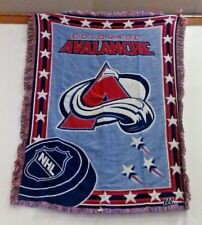 NHL COLORADO AVALANCHE  WOVEN  BLANKET THROW  BRAND NEW