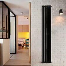 Lynwood Flat Bar Single Radiator Vertical Tower Central Home Heating Matt Black