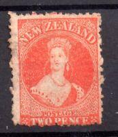 New Zealand 1872 2d Vermillion SG138 mint no gum WS20212