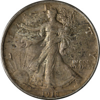 1918-P Walking Liberty Half Choice XF+ Nice Eye Appeal Nice Strike