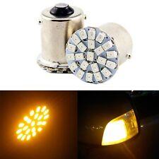 20X 12V Amber S25 BA15S 1156 1141 Base 1206 22smd LED Car Turn Signal Light Bulb