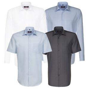 Seidensticker Herren Herrenhemd Business Hemd Modern Regular weiß blau grau Kent