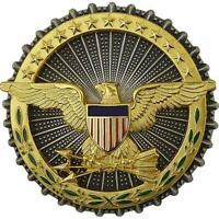 Genuine U.S. ARMY IDENTIFICATION BADGE: SECRETARY OF DEFENSE Badge Pin Insignia