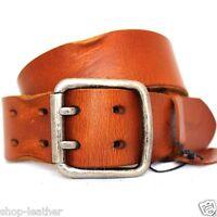 Genuine Casual Waistband vintage Leather Waist handmade belt 43 mm Buckle retro