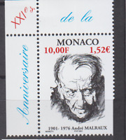 PP155 - MONACO STAMPS 2001 BIRTH ANDRÉ MALRAUX AUTHOR/WRITER SC2207 MNH