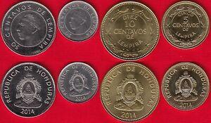 Honduras set of 4 coins: 5 - 50 centavos 2014 UNC