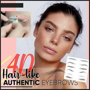 1 Sheet 4D Hair-like Eyebrow Sticker False Eyebrows Waterproof Lasting Makeup