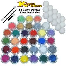 32-10ml DELUXE COLOR FACE PAINTING SET Paint Makeup Kit